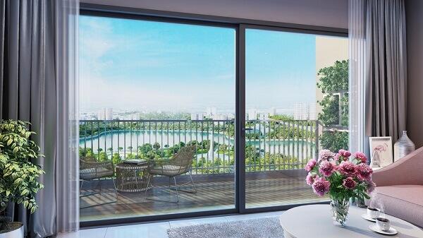 """Căn hộ tại tòa C3 – D'.Capitale được thiết kế với layout so le độc đáo, mang đến tầm nhìn """"triệu đô"""" và không gian sống xanh hoàn hảo"""