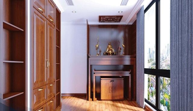 Bàn thờ trong căn hộ chung cư nên được bố trí nơi phong quang, sạch sẽ