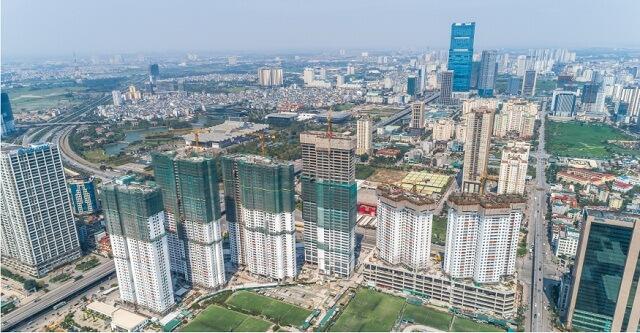 6 tòa tháp đang trong quá trình thi công tại dự án D'.Capitale và dự kiến sẽ được bàn giao vào Quý IV/2018