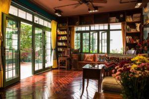 Đối với phong thuỷ nhà ở, cửa nhà có tác dụng quan trọng chiếm đến 80% mọi sự cát hung trong gia đình. Ảnh minh họa.