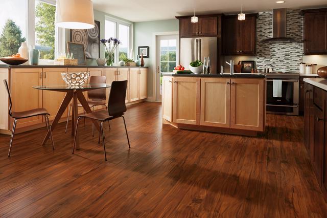 Sàn gỗ màu nâu vàng mang đến vẻ đẹp nền nã và tinh tế. Ảnh minh họa