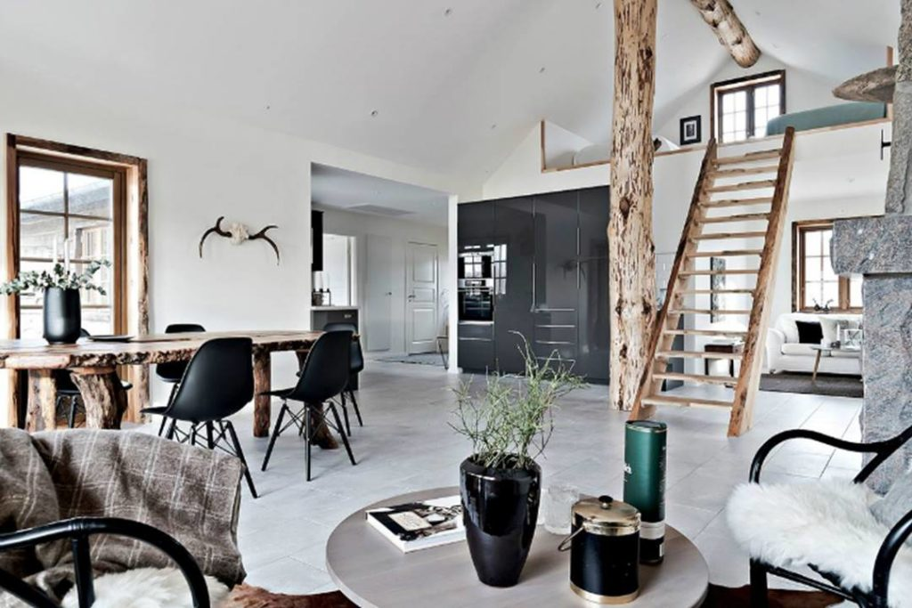 Nội thất gỗ tự nhiên sẽ làm cho ngôi nhà thêm gần gũi và ấm cúng